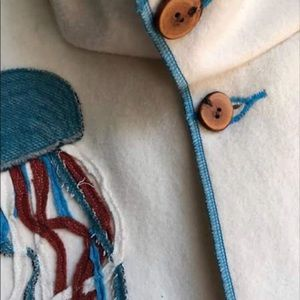 Pendleton wool cropped peacoat with oversized hood